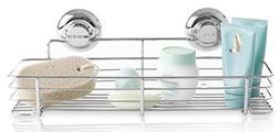 BINO SMARTSUCTION Rust Proof Stainless Steel Shower Caddy, S