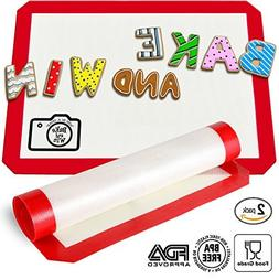 Bake and Win Nonstick Silicone Baking Mat. Large Half Sheet: