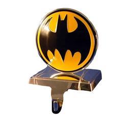 Batman Kurt Adler Batman Logo Stocking Hanger, Silver