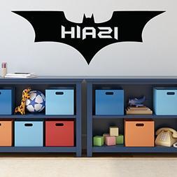 Batman Wall Decal - Personalized Superhero Icon Emblem Symbo