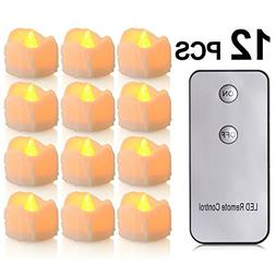 PChero N/A Battery Candles with Remote, 12 Packs  Battery Op