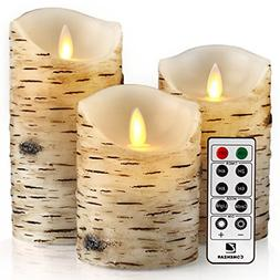 """Battery Operated Candle, Flickering Candles Set of 4"""" 5"""" 6"""""""