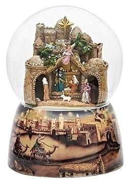 Bethlehem City Animated Musical Glass Glitterdome Christmas