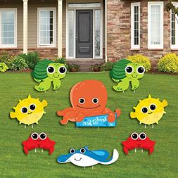 Big Dot of Happiness Under The Sea Critters - Yard Sign & Ou