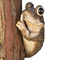 Bits and Pieces - Keep Quiet Frog Tree Peeker - Durable Poly