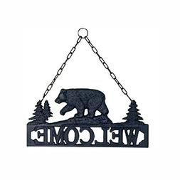 Black Bear Cast Iron Decorative Welcome Sign / Plaque for In