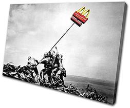 Bold Bloc Design - McDonalds Flag Banksy Painting 135x90cm S