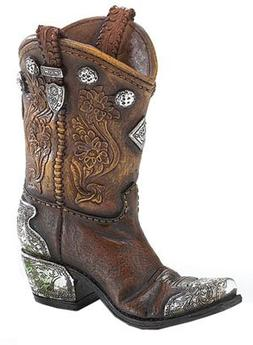 Boots and Spurs Western Cowboy Boot Vase for Western Home De