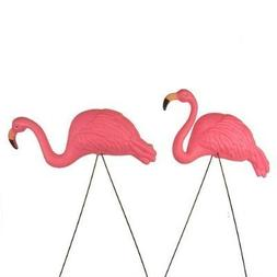 Bright Pink Flamingo Yard Ornament