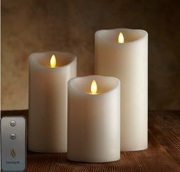 Flameless Candle with Remote & Timer Set of 3pcs,3.5-Inch by