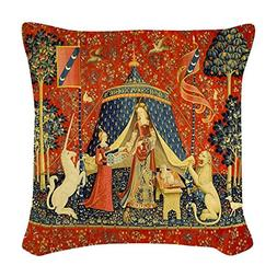 CafePress - Lady And The Unicorn Medieval Tapestry Art Woven