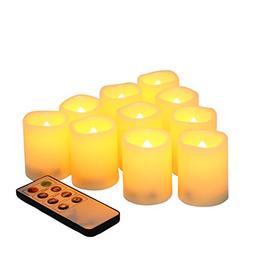 Candle Choice Set of 10 Flameless Candles, LED Votives, Flam