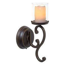Candle Impressions Flameless LED Candle Wall Sconce - Rubbed