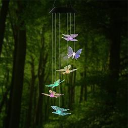 Changing Color Butterfly Wind Chime, AceList Spiral Spinner