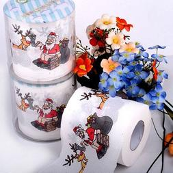 Chenkou Craft 1roll Santa Claus Merry Christmas Toilet Paper