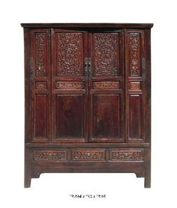 Chinese Antique Solid Wood Hand Carving Armoire Cabinet Af85