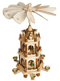 Christmas Decoration Pyramid 18 Inches Nativity Play 3 Tier