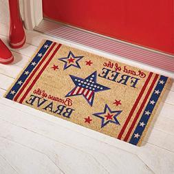 Coir Star Patriotic Americana Rug Patio Welcome Mat 4th of J