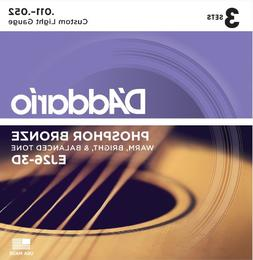 D'Addario EJ26-3D Phosphor Bronze Acoustic Guitar Strings, C