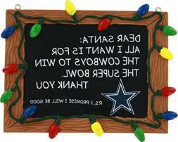 Dallas Cowboys Official NFL 3 inch x 4 inch Chalkboard Sign