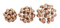 Deco 79 44506 Metal Table Decor Copper Set of 3