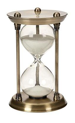 Deco 79 58155 Contemporary Silver Metal and Clear Glass 15-M