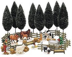 Department 56 Snow Village Farm Accessory Set Set of 35
