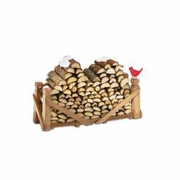 Department 56 Village Log Pile, Natural Wood