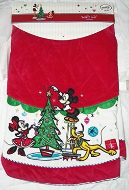 Disney Store Christmas Tree Skirt Minnie Mickey Mouse Pluto