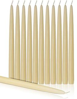 """Higlow Dripless Taper Candles 10"""" Inch Tall Wedding Dinner C"""