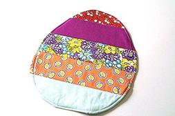 Colorful Floral Easter Egg Mini Quilt in Colorful Striped Pa