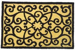 Elegant Frontgate Scroll Accent Area Rug Jellybean