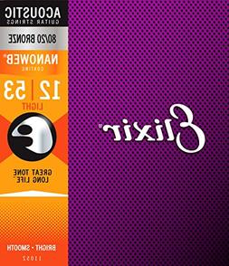 Elixir Strings 80/20 Bronze Acoustic Guitar Strings w NANOWE