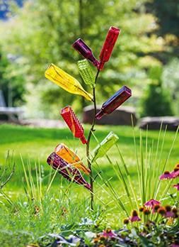 Evergreen Garden Metal Bottle Tree - Holds 10 Bottles  - 13.
