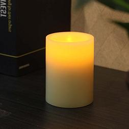 Flameless Candles With Timer, Pillar, 3 x 4, Ivory