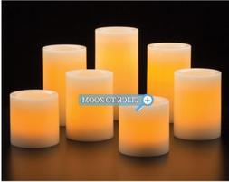 Flameless LED 7-pack Wax Candles with Remote Control