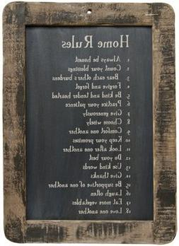Framed Home Rules Blackboard - Primitive Country Rustic Insp