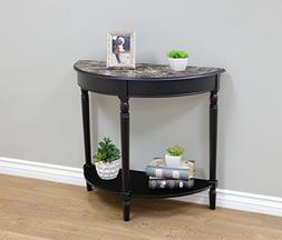 Frenchi Home Furnishing Entryway Table with Faux Marble Top,