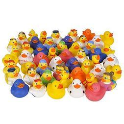 Fun Express Assorted Rubber Ducks - 50 Pieces