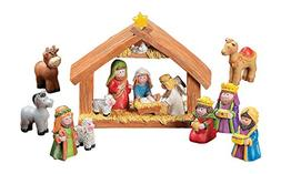 Fun Express Mini Christmas Nativity Set Stable with Jesus Ma