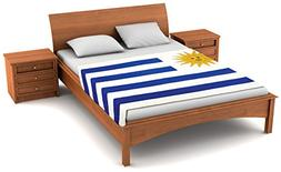 Fuzzy FlagsTM Uruguay Flag Fleece Blanket - 80 in. x 50 in.