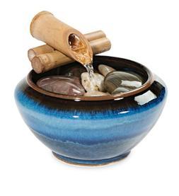 Georgetown Pottery Desktop Fountain - Hamada & Blue