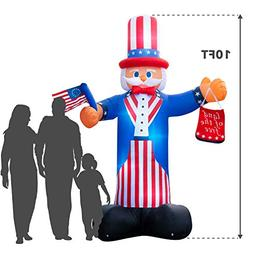 Giant 10 Ft. Tall Holidayana 4th Of July Inflatable Uncle Sa