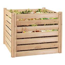 Greenes Fence RCCOMP36 Cedar Wood Composter, 23.25 Cu ft/173