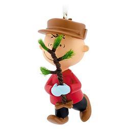 Hallmark Peanuts Charlie Brown with Tree Christmas Ornament