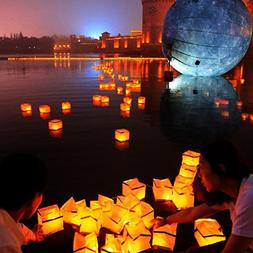 Homecube Outdoor Water Floating Candle Lanterns Biodegradabl