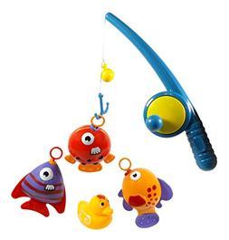 Hook and Reel Fishing Toy Playset for Kids - Bathtub Bath Fu
