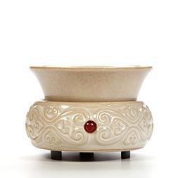 Hosley Hosley's Cream Ceramic Fragrance Candle Wax Warmer. I