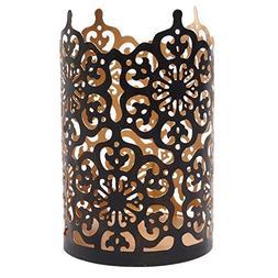 """Hosley Flower 7"""" High Cut Bronze LED/Votive/Tealight Holder/"""