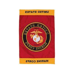 In the Breeze U.S. Marine Corps Emblem Garden Flag - Militar
